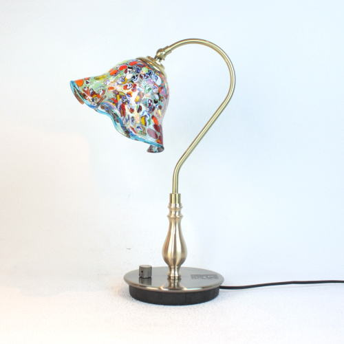 fc-210g-silver-smerlate-lightblueベネチアングラスランプ 照明 テーブルランプ 卓上ランプ イタリア製