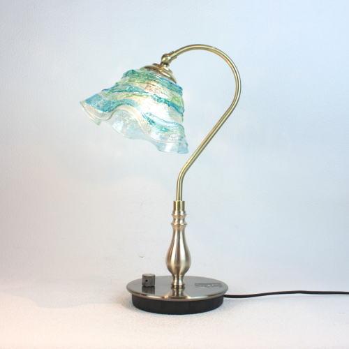 fc-210g-sm-sb-lightblue-green ベネチアングラスランプ 照明 テーブルランプ 卓上ランプ イタリア製