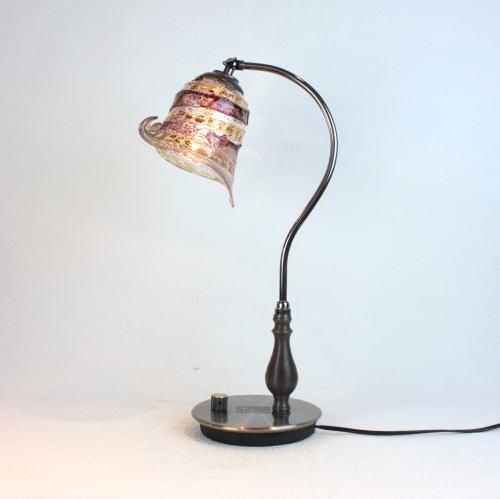 fc-570ay-calla-sbruffo-amethyst-amber ベネチアングラスランプ 照明 テーブルランプ 卓上ランプ イタリア製
