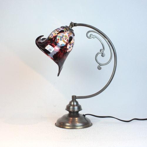 ベネチアングラスランプ 照明 テーブルランプ 卓上ランプ イタリア製 dd10ay-fantasy-calla-amethyst