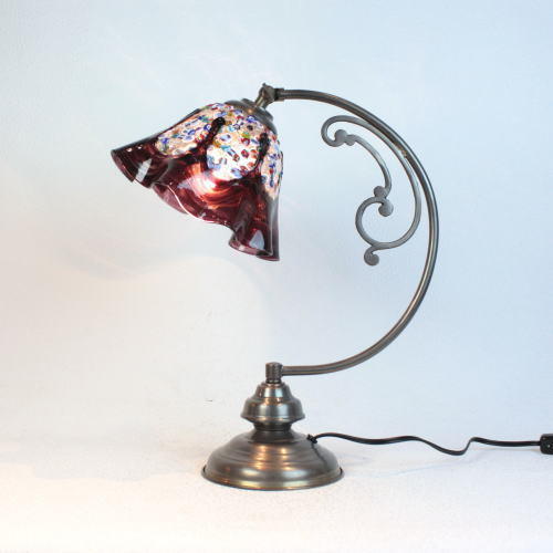 ベネチアングラスランプ 照明 テーブルランプ 卓上ランプ イタリア製 dd10ay-fantasy-smerlate-amethyst