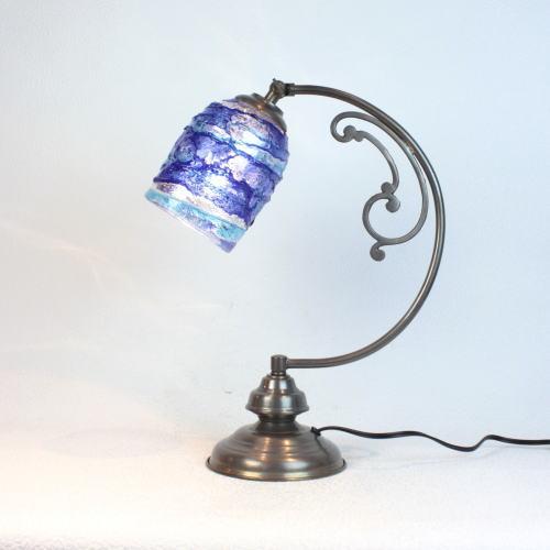 dd10ay-sbruffo-blue-lightblue ベネチアングラスランプ 照明 テーブルランプ 卓上ランプ イタリア製