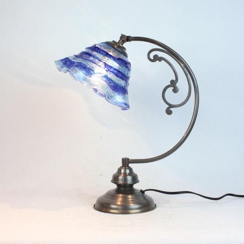 dd10ay-smerlate-sbruffo-blue-lightbluee ベネチアングラスランプ 照明 テーブルランプ 卓上ランプ イタリア製