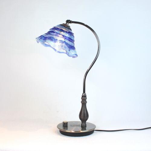 fc-570ay-smerlate-sbruffo-blue-lightblue ベネチアングラスランプ 照明 テーブルランプ 卓上ランプ イタリア製