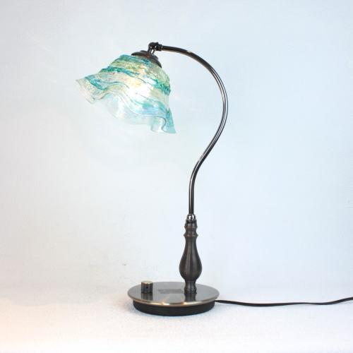 fc-570ay-smerlate-sbruffo-lightblue-green ベネチアングラスランプ 照明 テーブルランプ 卓上ランプ イタリア製