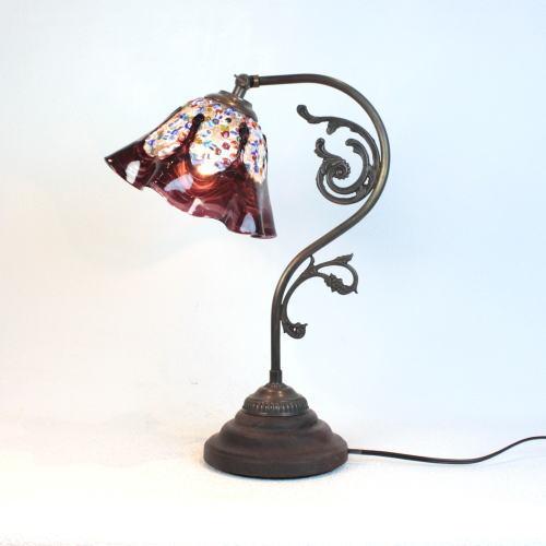 fc-600a-fantasy-smerlate-amethyst ベネチアングラスランプ 照明 テーブルランプ 卓上ランプ イタリア製