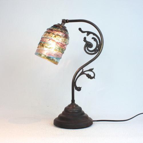 fc-600a-sbruffo-amethyst-lightblue-amber ベネチアングラスランプ 照明 テーブルランプ 卓上ランプ イタリア製