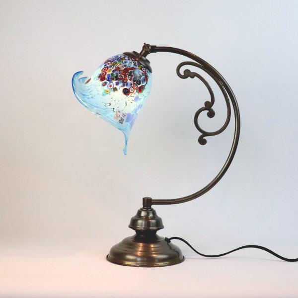 dd10ay-goti-p-calla-azure ベネチアングラスランプ 照明 テーブルランプ テーブルライト 卓上ランプ イタリア製