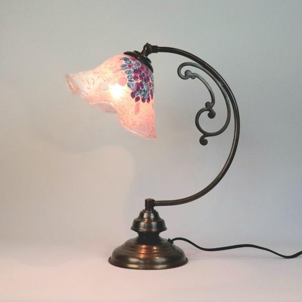dd10ay-goti-p-smerlate-pink ベネチアングラスランプ 照明 テーブルランプ テーブルライト 卓上ランプ イタリア製