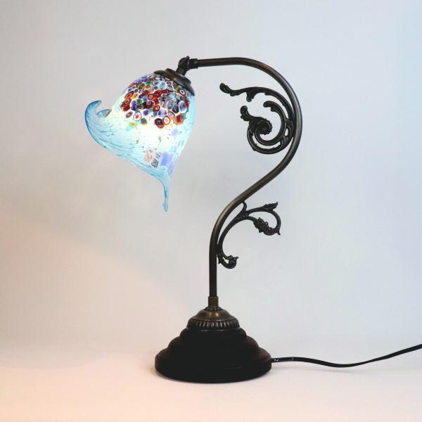 fc-600a-goti-p-calla-azure ベネチアングラスランプ 照明 テーブルランプ 卓上ランプ イタリア製