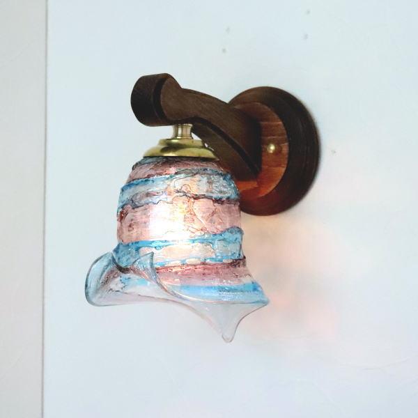 ブラケットライト 壁掛け照明 ブラケットランプ fc-ww016g-calla-sbruffo-amethyst-lightblue