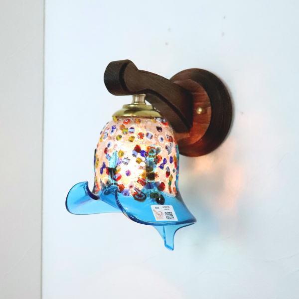 ブラケットライト 壁掛け照明 ブラケットランプ fc-ww016g-fantasy-calla-lightblue