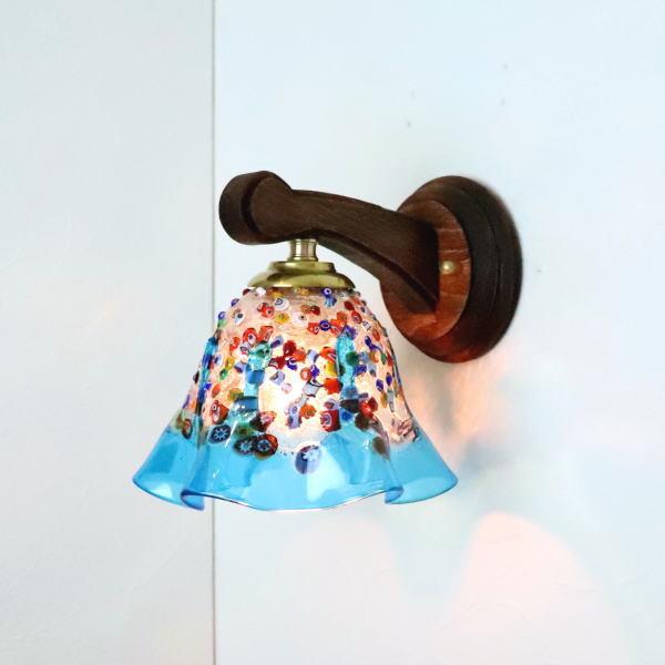 ブラケットライト 壁掛け照明 ブラケットランプ fc-ww016g-fantasy-smerlate-lightblue