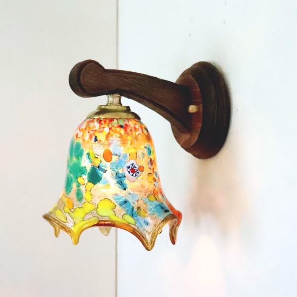 ブラケットライト 壁掛け照明 ブラケットランプ fc-ww016g-fazoletto-amber