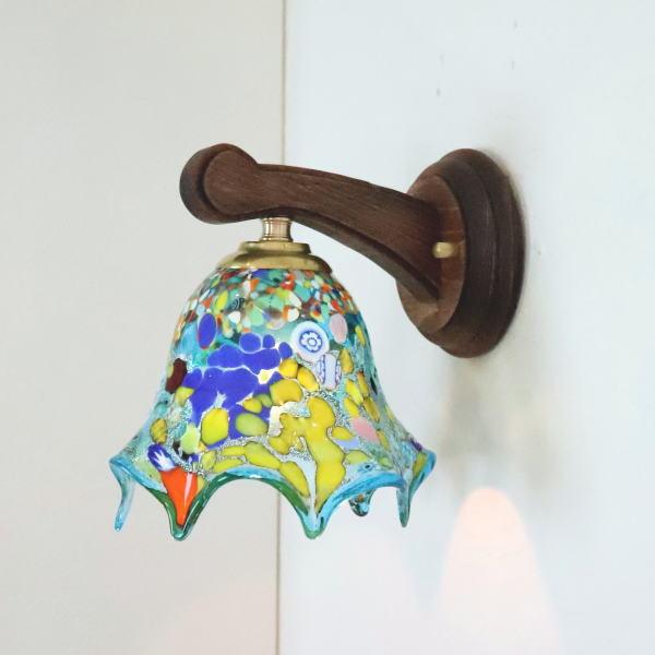 ブラケットライト 壁掛け照明 ブラケットランプ fc-ww016g-fazoletto-lightblue