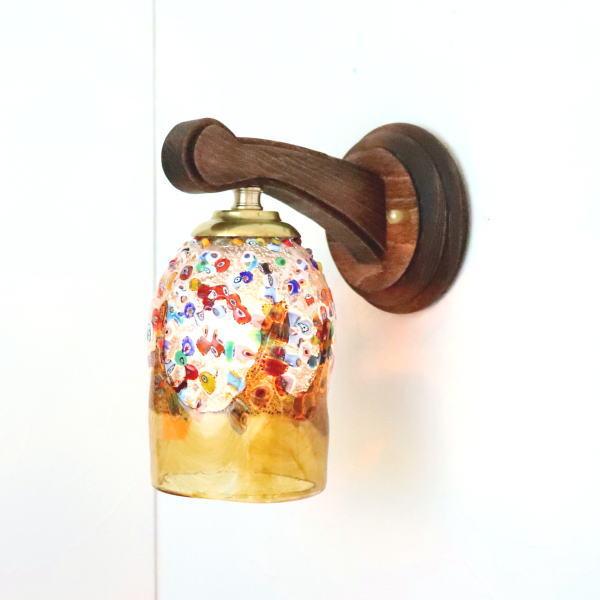 ブラケットライト 壁掛け照明 ブラケットランプ fc-ww016g-fantasy-goto-amber