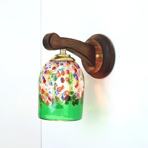 ブラケットライト 壁掛け照明 ブラケットランプ fc-ww016g-fantasy-goto-green