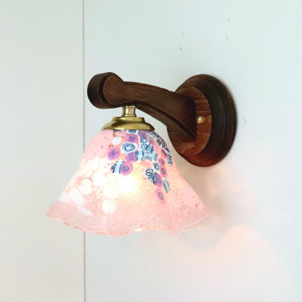 ブラケットライト 壁掛け照明 ブラケットランプ fc-ww016g-goti-p-smerlate-pink