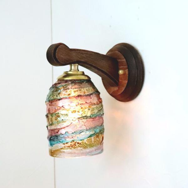 ブラケットライト 壁掛け照明 ブラケットランプ fc-ww016g-sbruffo-amethyst-lightblue-amber