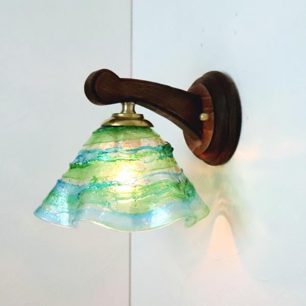 ブラケットライト 壁掛け照明 ブラケットランプ fc-ww016g-smerlate-sbruffo-lightblue-green