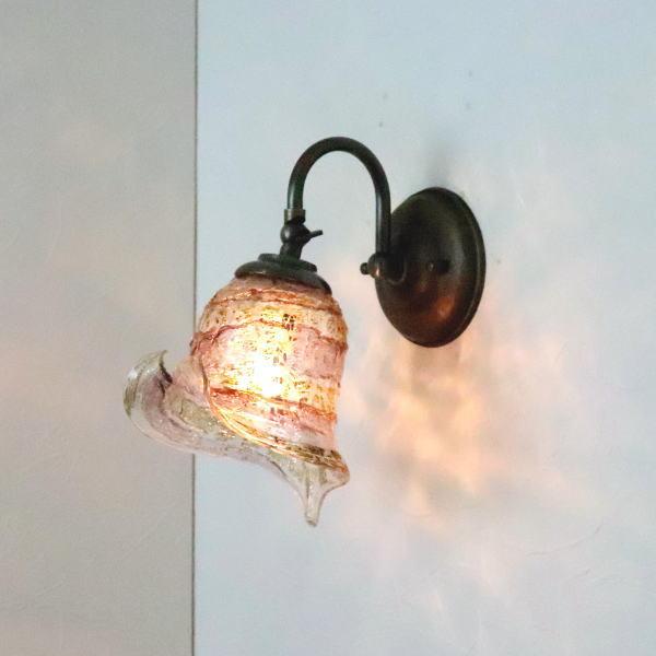 ブラケットライト 壁掛け照明 ブラケットランプ fc-w004-calla-sbruffo-amethyst-amber
