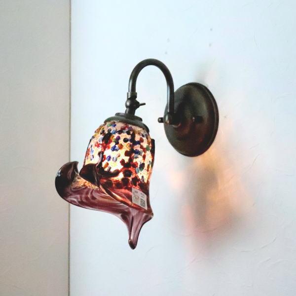 ブラケットライト 壁掛け照明 ブラケットランプ fc-w004-fantasy-calla-amethyst