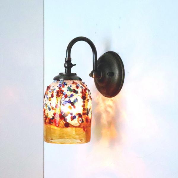 ブラケットライト 壁掛け照明 ブラケットランプ fc-w004-fantasy-goto-amber