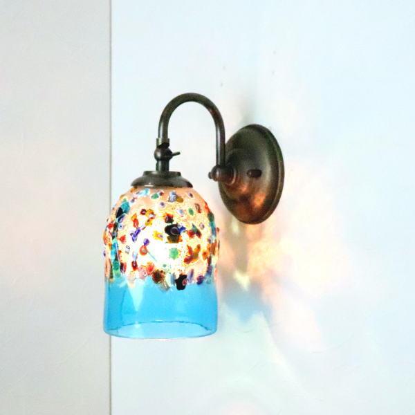 ブラケットライト 壁掛け照明 ブラケットランプ fc-w004-fantasy-goto-lightblue
