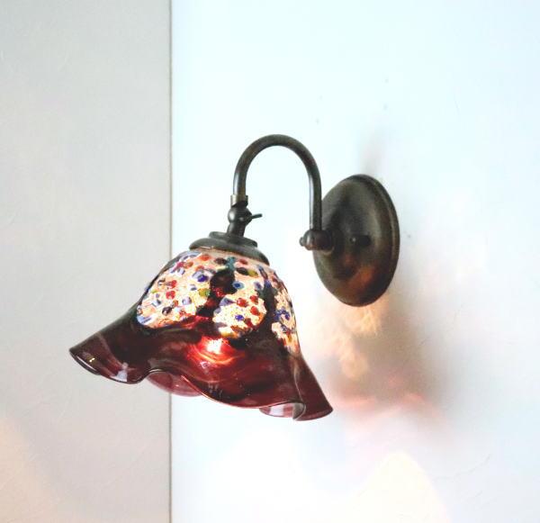 ブラケットライト 壁掛け照明 ブラケットランプ fc-w004-fantasy-smerlate-amethyst