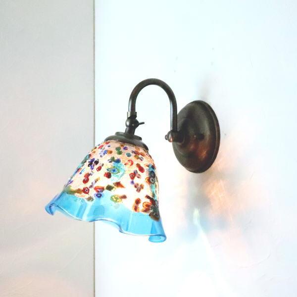 ブラケットライト 壁掛け照明 ブラケットランプ fc-w004-fantasy-smerlate-lightblue