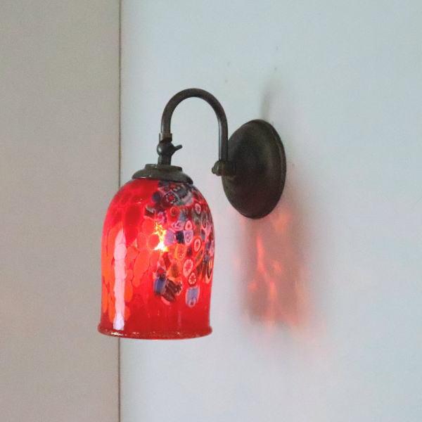 ブラケットライト 壁掛け照明 ブラケットランプ fc-w004-goti-p-goto-red