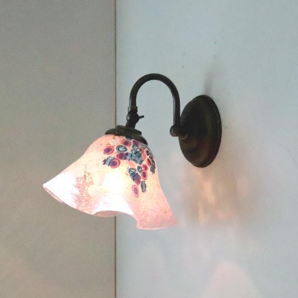 ブラケットライト 壁掛け照明 ブラケットランプ fc-w004-goti-p-smerlate-pink