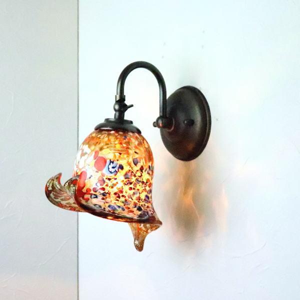 ブラケットライト 壁掛け照明 ブラケットランプ fc-w004-silver-calla-amber