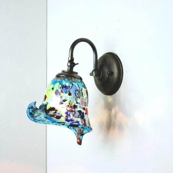 ブラケットライト 壁掛け照明 ブラケットランプ fc-w004-silver-calla-lightblue