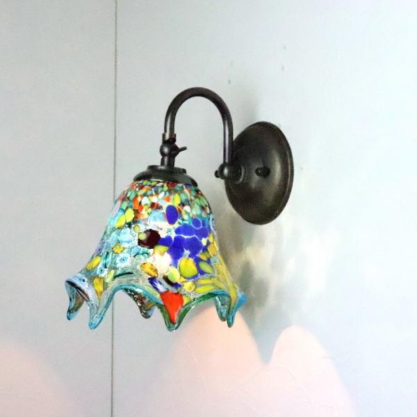 ブラケットライト 壁掛け照明 ブラケットランプ fc-w004-fazoletto-lightblue