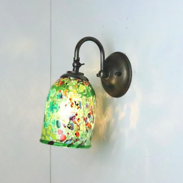 ブラケットライト 壁掛け照明 ブラケットランプ fc-w004-silver-goto-green