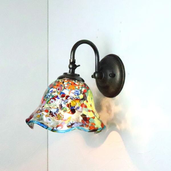 ブラケットライト 壁掛け照明 ブラケットランプ fc-w004-silver-smerlate-lightblue