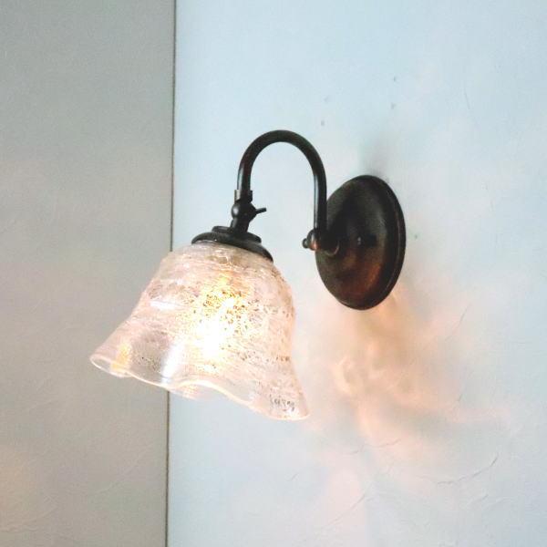 ブラケットライト 壁掛け照明 ブラケットランプ fc-w004-smerlate-sbruffo-clear