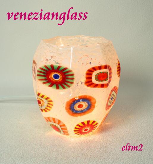 eltm2 ベネチアングラスランプ 照明 テーブルランプ 卓上ランプ イタリア製