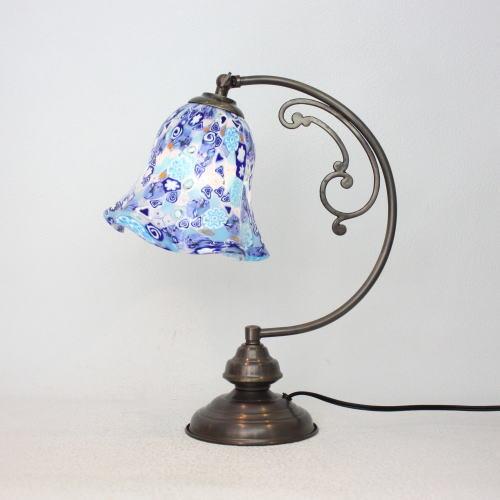 dd10ay-murrine-bl ベネチアングラスランプ 照明 テーブルランプ 卓上ランプ イタリア製