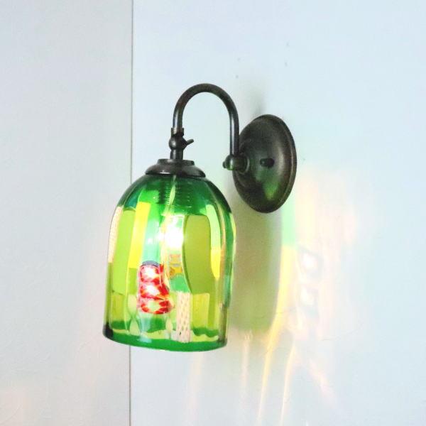 ブラケットライト 壁掛け照明 ブラケットランプ fc-w004-dm132-green