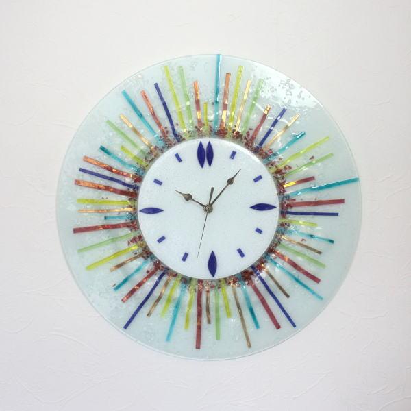 ベネチアングラス 掛け時計 ベネチアンガラス 掛時計 おしゃれ かわいい ヴェネチアンガラス