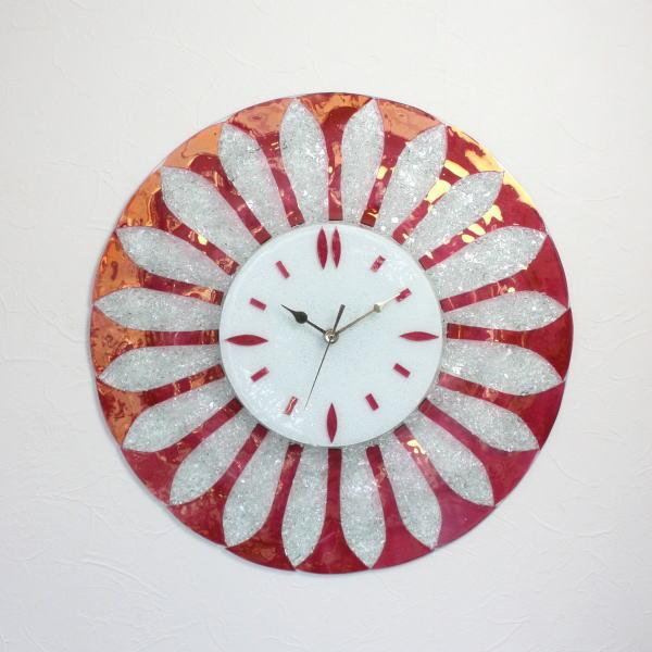 ベネチアングラス ベネチアンガラス 掛け時計 掛時計 おしゃれ かわいい ヴェネチアンガラス