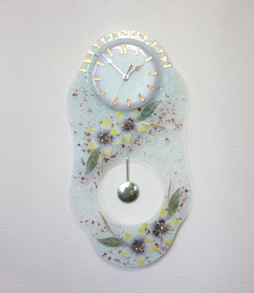 掛け時計 掛時計 振り子付きベネチアングラス イタリア製 インテリア おしゃれ 掛け時計 イタリア製 お祝い 結婚祝い ギフト 掛け時計 ギフト ベネチアンガラス ヴェネチアンガラス, chicattchicott:17156171 --- olena.ca