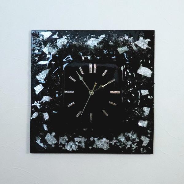 掛け時計 掛時計 ベネチアングラス ベネチアンガラス おしゃれ お祝い ヴェネチアンガラス pelt13-03qb-si