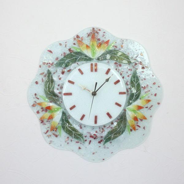 ベネチアングラス 掛け時計 pelt625-f-arancio ガラス インテリア 現品 クロック 評価 壁掛け時計 ヴェネチアンガラス おしゃれ 結婚祝い ギフト ベネチアンガラス 掛時計ベネチアングラス イタリア製 お祝い