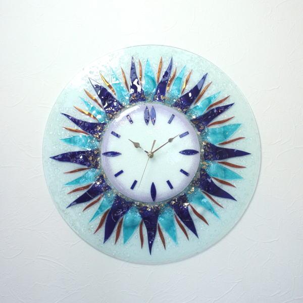 掛け時計 掛時計 ベネチアングラス ベネチアンガラス おしゃれ お祝い ヴェネチアンガラス