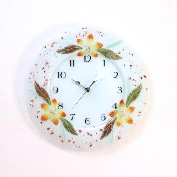 掛け時計 掛時計 ベネチアングラス おしゃれ ベネチアンガラス お祝い ヴェネチアンガラス pelt06-02-t-ar