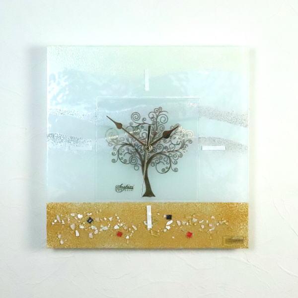 掛け時計 掛時計 ベネチアングラス ベネチアンガラス おしゃれ かわいい ヴェネチアンガラス or2929-1