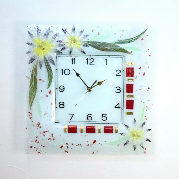 pelt06-57-q ベネチアングラス掛け時計 ベネチアンガラス イタリア製 インテリア お祝い 結婚祝い ギフト おしゃれかわいい ヴェネチアンガラス